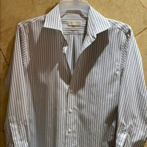 Michael Kors Men's Button Down LS Dress Shirt S 16